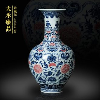 Jingdezhen ceramics vase full hand - made porcelain youligong tangled branches of the reward bottle contracted and I household adornment