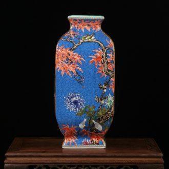 The Vases, pottery and porcelain of jingdezhen furnishing articles high copy drawing pick flowers enamel pastel color restoring ancient ways that occupy the home decoration vase