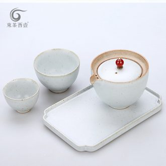 East west tea pot office of dry mercifully kung fu tea set, the ancient glaze a pot of tea set 2 cups of small property