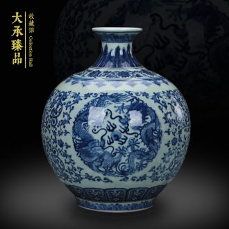 Archaize of jingdezhen blue and white porcelain dragon playing bead study of classical Chinese style household adornment handicraft furnishing articles sitting room