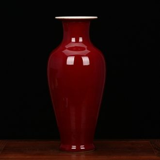 Jingdezhen porcelain factory factory goods color glaze ceramic vases, the founding of the red goddess of mercy bottle collection of modern arts and crafts