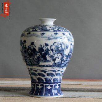 Jingdezhen porcelain ceramic rich ancient frame sketch porcelain decorative flower household mesa furnishing articles