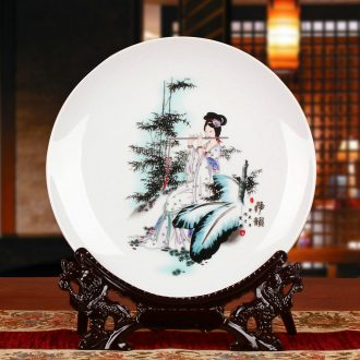Jingdezhen ceramics (beauty faceplate hang dish modern household adornment handicraft decoration decoration plate