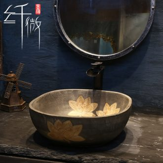 Restore ancient ways the sink basin of northern Europe on square Chinese ceramic art basin is I and contracted the basin that wash a face to the pool