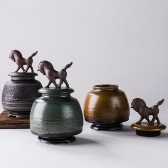 Friend is tea pu 'er tea pot seal ceramic up caddy fixings tieguanyin POTS and unconstrained style