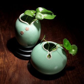 Creative ceramic vase small pure and fresh and new Chinese style household furnishing articles hydroponic container other I sitting room dry flower arranging flowers