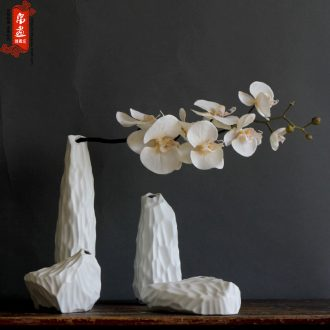 Hillshade manual creative ceramic flower implement new Chinese style flowers in black/white soft outfit flower arrangement sitting room adornment is placed