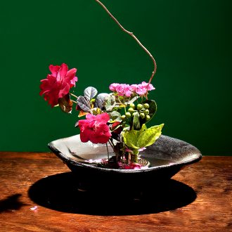 Jian mountain flower arranging small Japanese origin flower, flower pot, flower implement floral flower arranging would creative zen flowerpot ceramics
