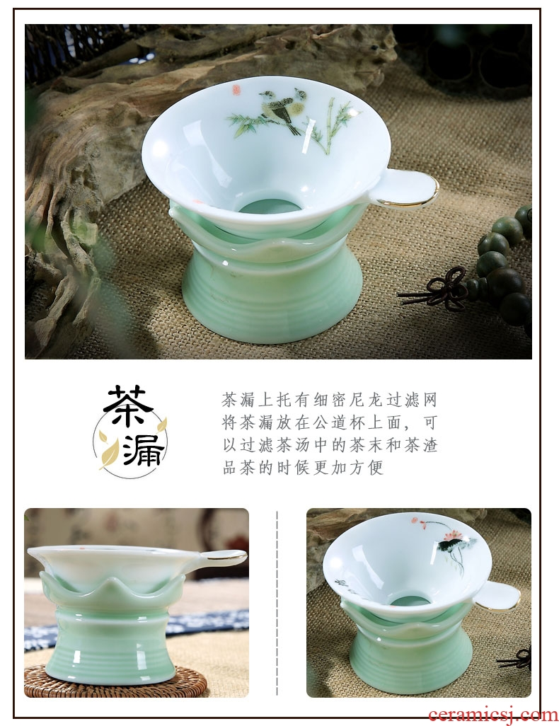 Household ceramics white porcelain chaozhou chaozhou kungfu tea set suit GaiWanCha plate of I and contracted tea cups with the teapot