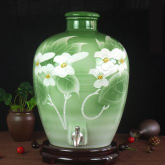 10 jins 20 jins 30 jins 50 jins of jingdezhen ceramic jar it big with the leading seal wine hip flask