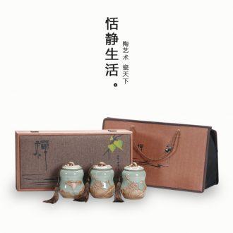 The elder brother your up up ceramic tea pot of longquan celadon seal storage tanks pu 'er tea warehouse tea gift packaging gift box