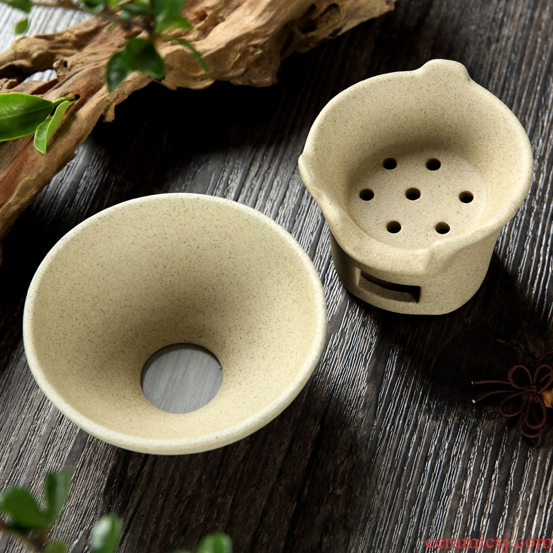 Kung fu tea accessories coarse pottery) tea tea every ceramic tea filter filter lies between tealeaf tea good restoring ancient ways