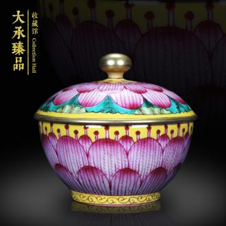 Jingdezhen archaize plantain grain red enamel pot of Chinese classical home study rich ancient frame collection handicrafts