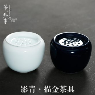 Famed shadow green tea bucket retro move ceramic building hot water cylinder doing mercifully kung fu tea set spare parts