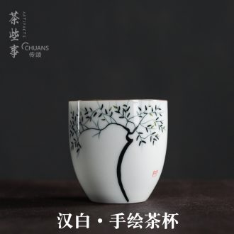 Famed hand - made ceramic master kung fu tea cup creative large single CPU hand made tea tea cup