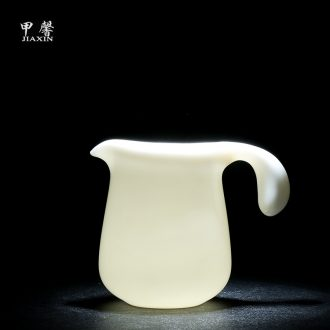 JiaXin dehua fat white Japanese contracted white porcelain ceramic tea kungfu points fair keller of tea large male cup