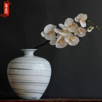 Furnishing articles of jingdezhen ceramic vase household to decorate the sitting room is I and contracted twisted placenta craft flower arranging flower decoration