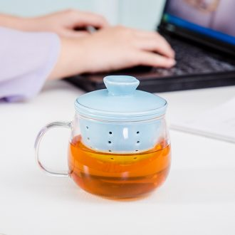 Friend is ceramic filter glass office tea scented tea cups of green tea tea cup, individual leisure cup of water glass