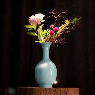 Ceramic vase decorated vase furnishing articles porcelain vase creative contracted flower implement hydroponic floret bottle arranging flowers