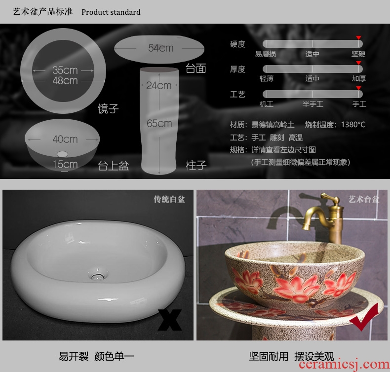 Vertical to the sink basin of pillar type column ceramic bathroom toilet is suing balcony ground the pool that wash a face basin