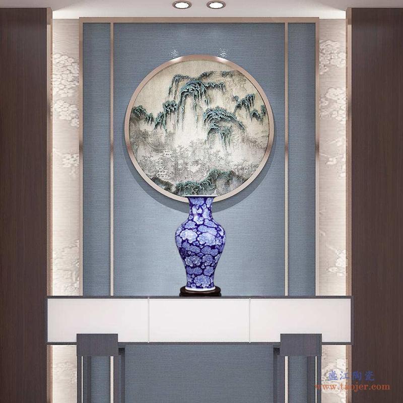 花瓶景德镇陶瓷器仿古青花葫芦瓷瓶新中式家居客厅装饰博古架摆件