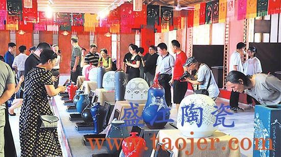 陶瓷与剪纸艺术文创作品展在大梦瓷谷开展