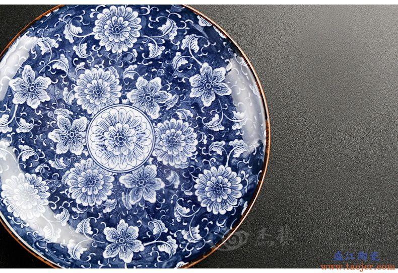 复古青花盖碗茶杯陶瓷三才茶碗茶具大号高白瓷家用加厚耐热泡茶器