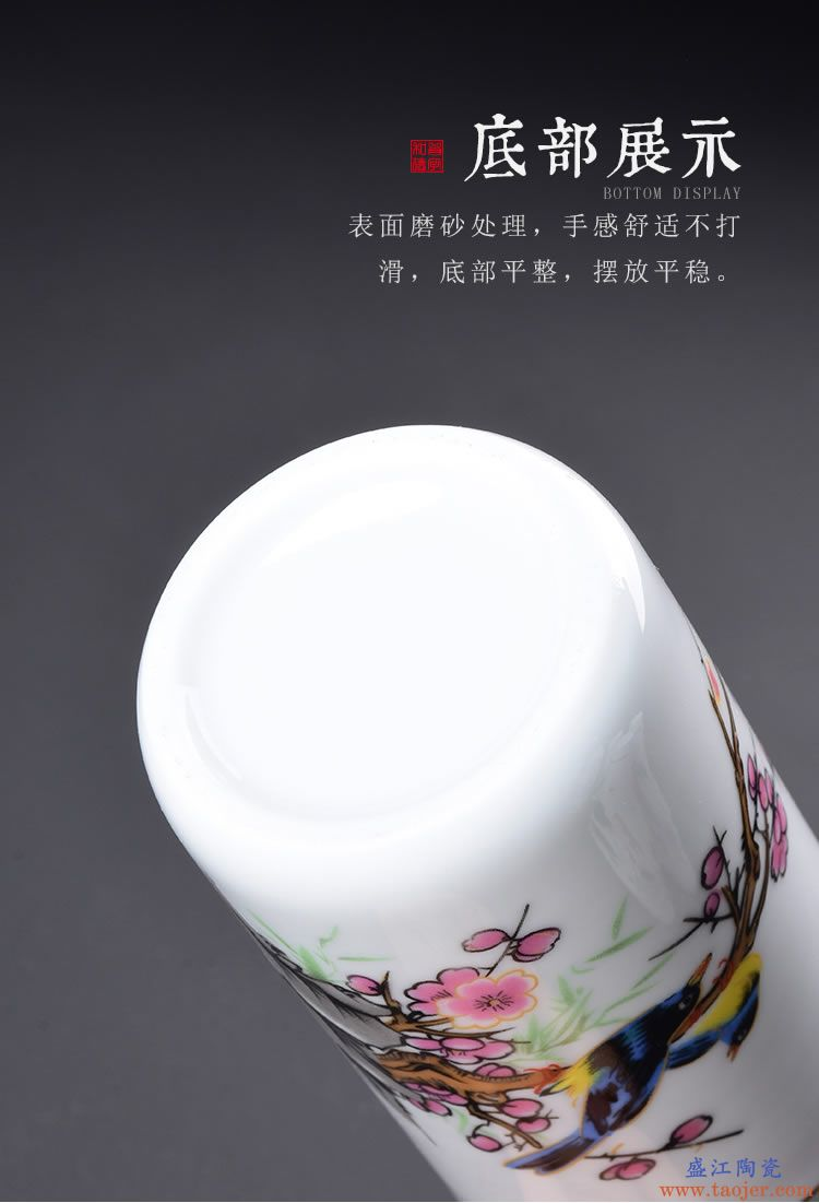 茶叶罐陶瓷便携礼盒装小号茶叶盒迷你随身旅行存储密封罐家用茶罐