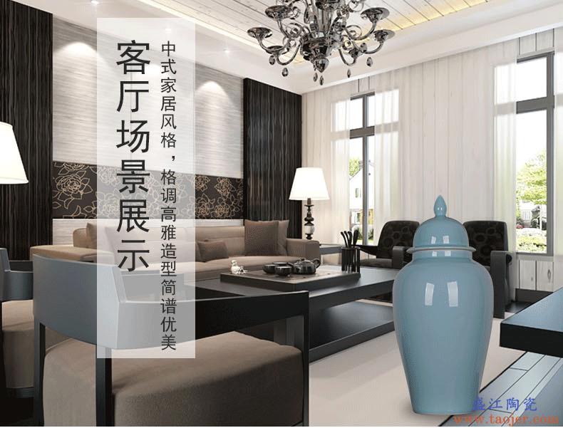 景诺 景德镇陶瓷器 颜色釉将军罐 中式现代家居饰品厨房日用摆件