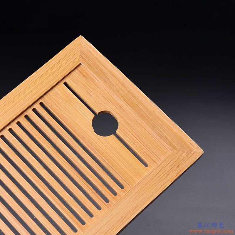 陶瓷茶盘日式家用竹托盘功夫茶具套装储水简约实木干泡迷你小茶台