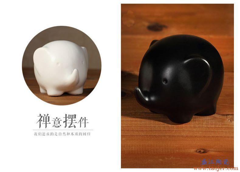 zakka创意陶瓷手工艺品对象黑白一对送女友新婚爱情礼物情侣摆件