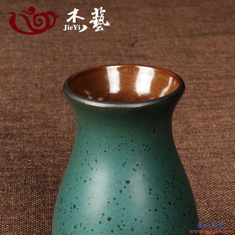 杰艺茶具 陶釉茶道六君子陶瓷功夫茶具配件茶艺茶道组合茶盘摆件