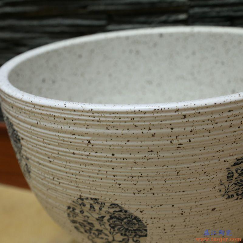 景焱中式艺术拖把池阳台陶瓷墩布池子洗拖把盆地拖盆景德镇拖布池