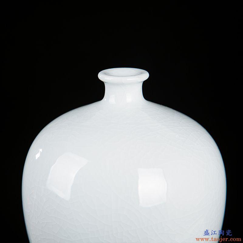 景德镇陶瓷器现代简约桌面花瓶家居客厅酒柜工艺品摆件新房装饰品
