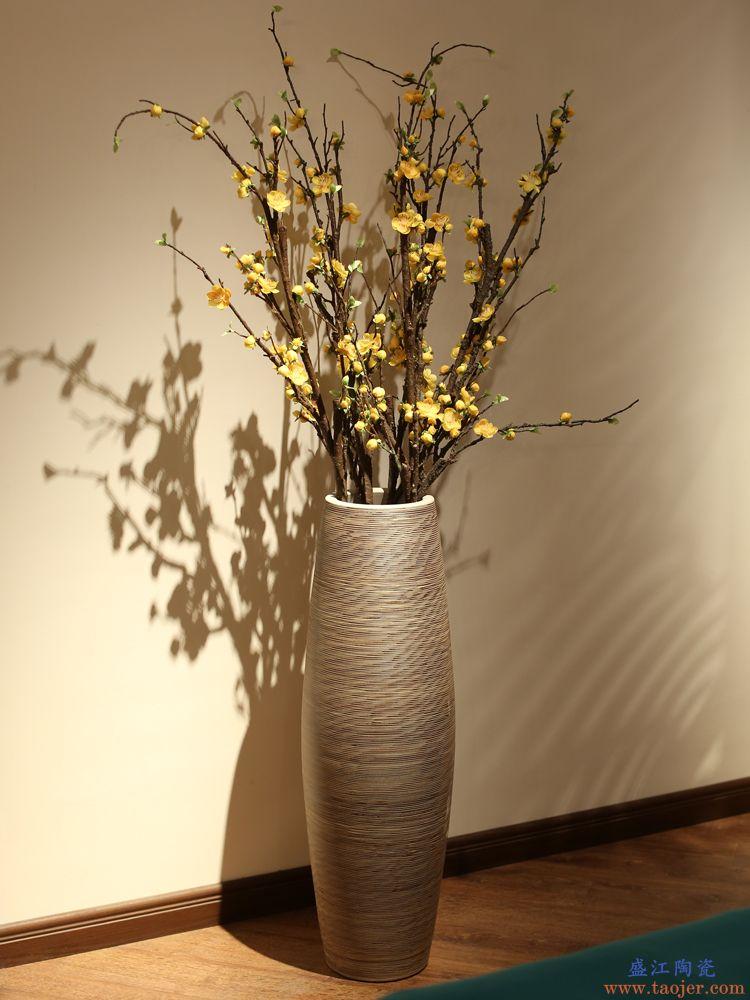 花瓶摆件客厅插花北欧陶瓷干花现代简约大号装饰落地欧式景德镇