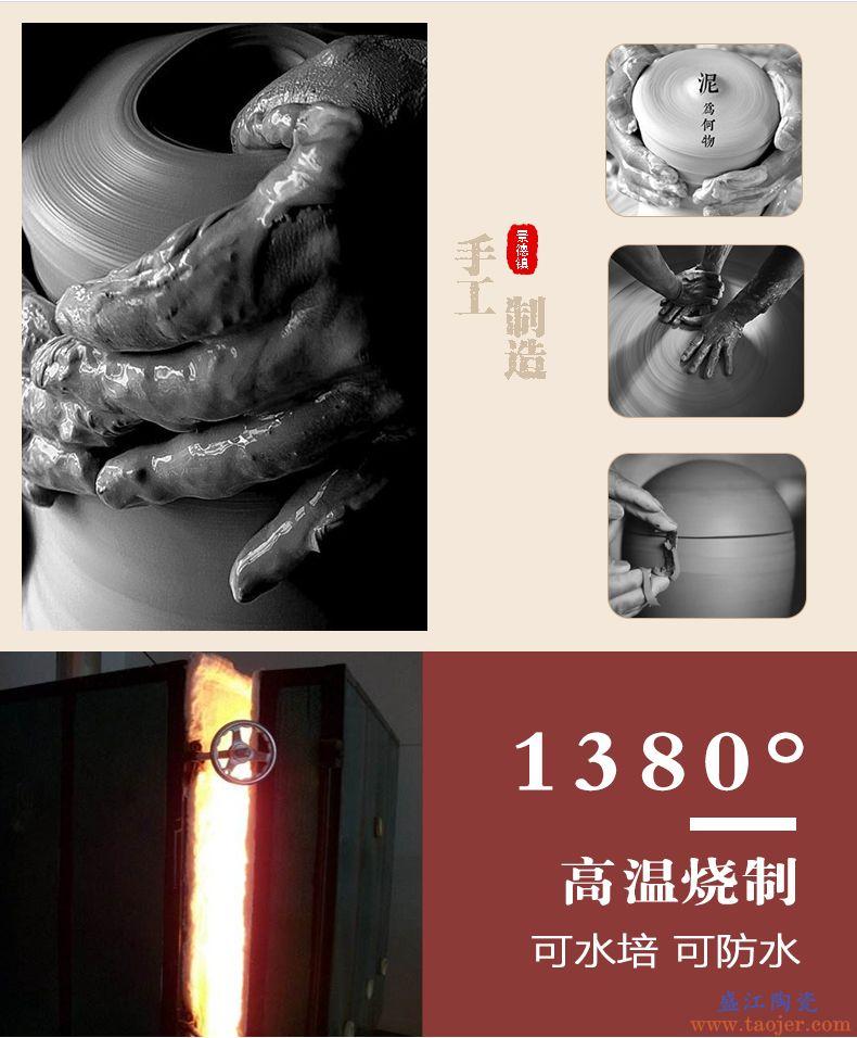 禅意花瓶干花装饰摆件客厅木头质陶罐插花复古日式粗陶陶瓷小花器