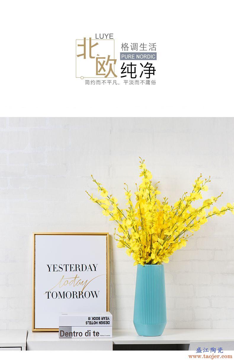 花瓶摆件客厅插花北欧陶瓷富贵竹清仓餐桌小清新现代简约式景德镇