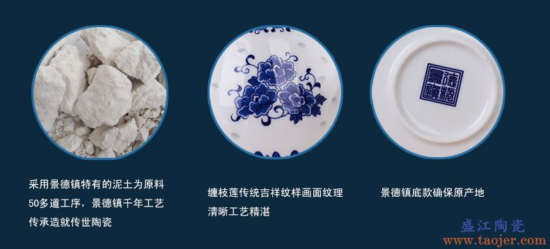 熙宫坊 景德镇耐热青花瓷大容量陶瓷茶壶手把壶泡茶冷凉水壶包邮