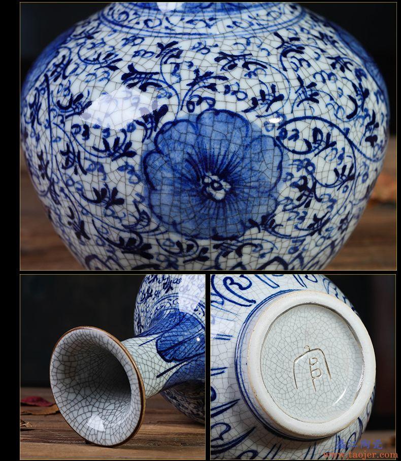 景德镇陶瓷器花瓶家居饰品摆件插花客厅电视柜装饰工艺品摆设
