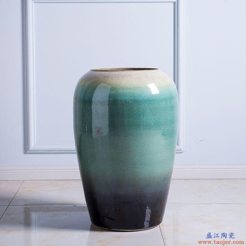 景德镇大花瓶摆件落地瓷器客厅玄关办公室酒店大号装饰陶瓷高花瓶