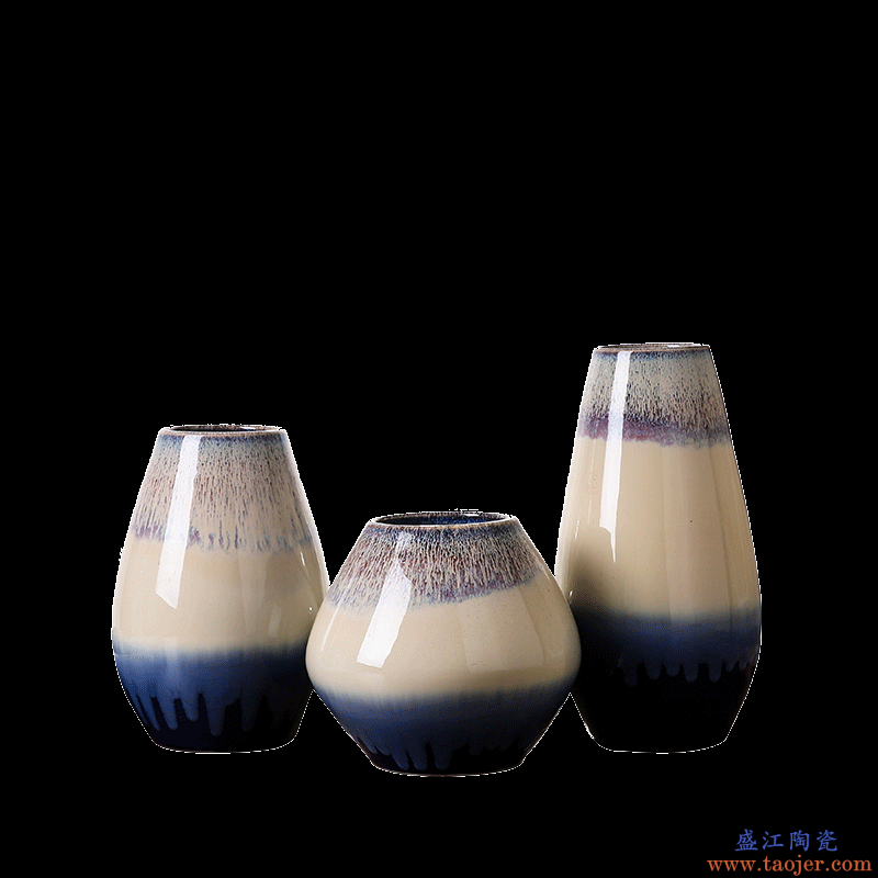 景德镇花瓶陶瓷欧式客厅台面小摆件插干花瓷器创意卧室陶瓷摆件