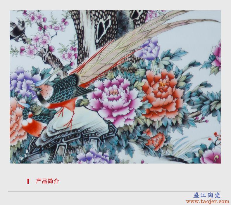 景德镇陶瓷器手绘青花瓷花瓶酒柜玄关家居装饰品客厅电视柜摆件-538331914685