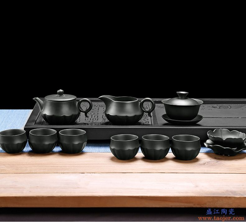 皇家雅致紫砂茶具陶瓷功夫茶具套装茶杯茶壶整套茶具茶道家用简约