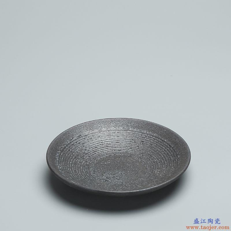 恬静生活 银斑茶壶 壶承 功夫茶具配件干泡茶道茶盘陶瓷壶承