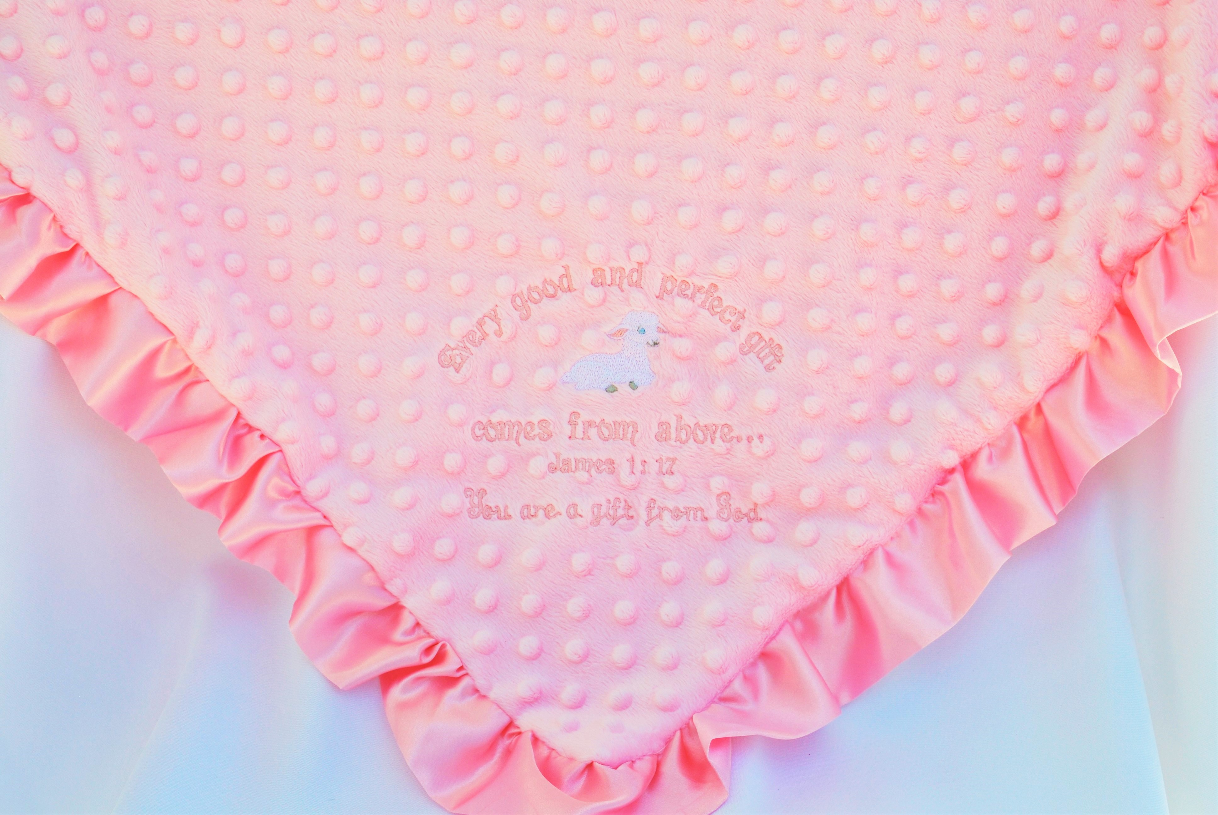 Minky Blanket, Every Good and Perfect Gift, Lamb