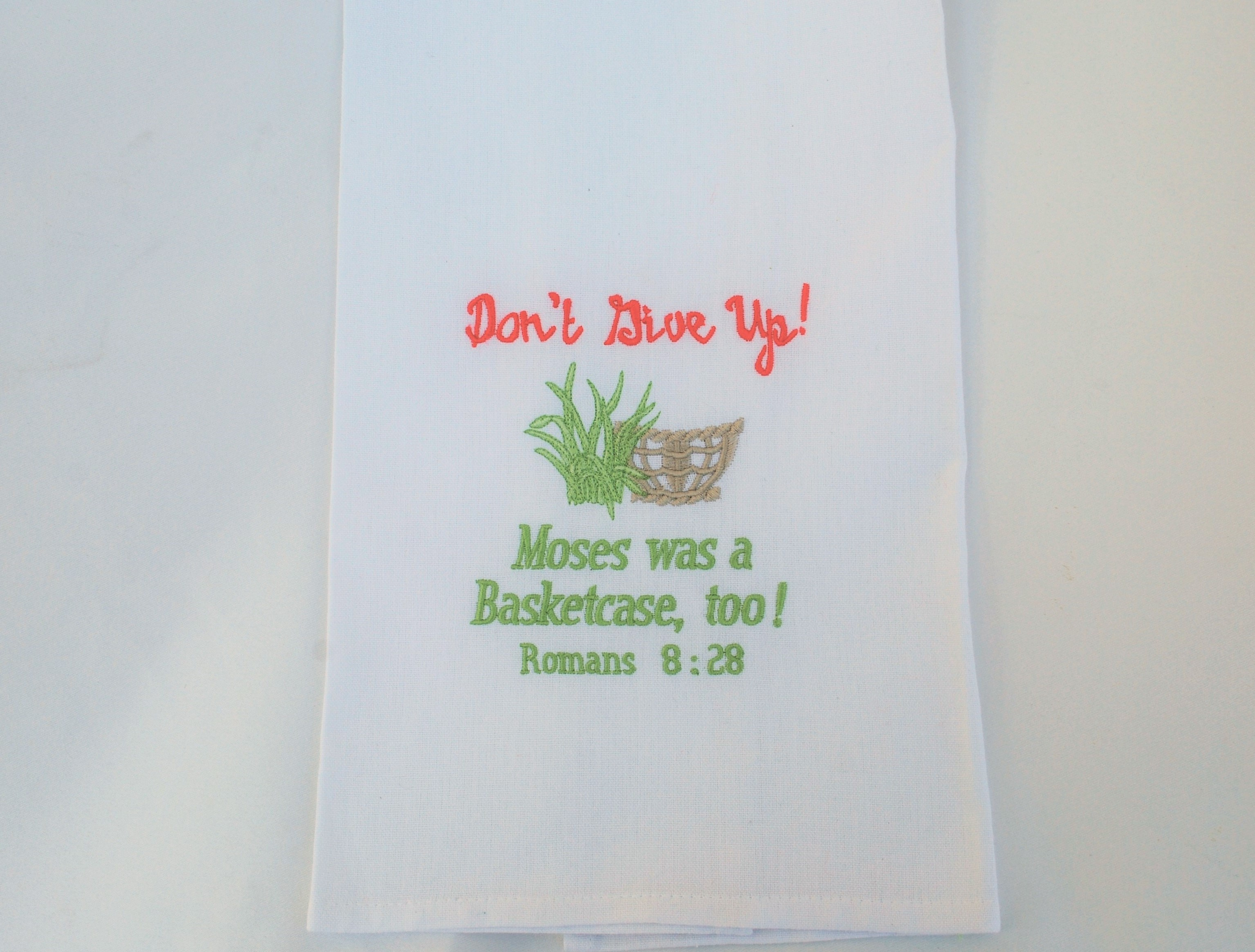 Kitchen Towel, Don't Give Up, Moses Basket