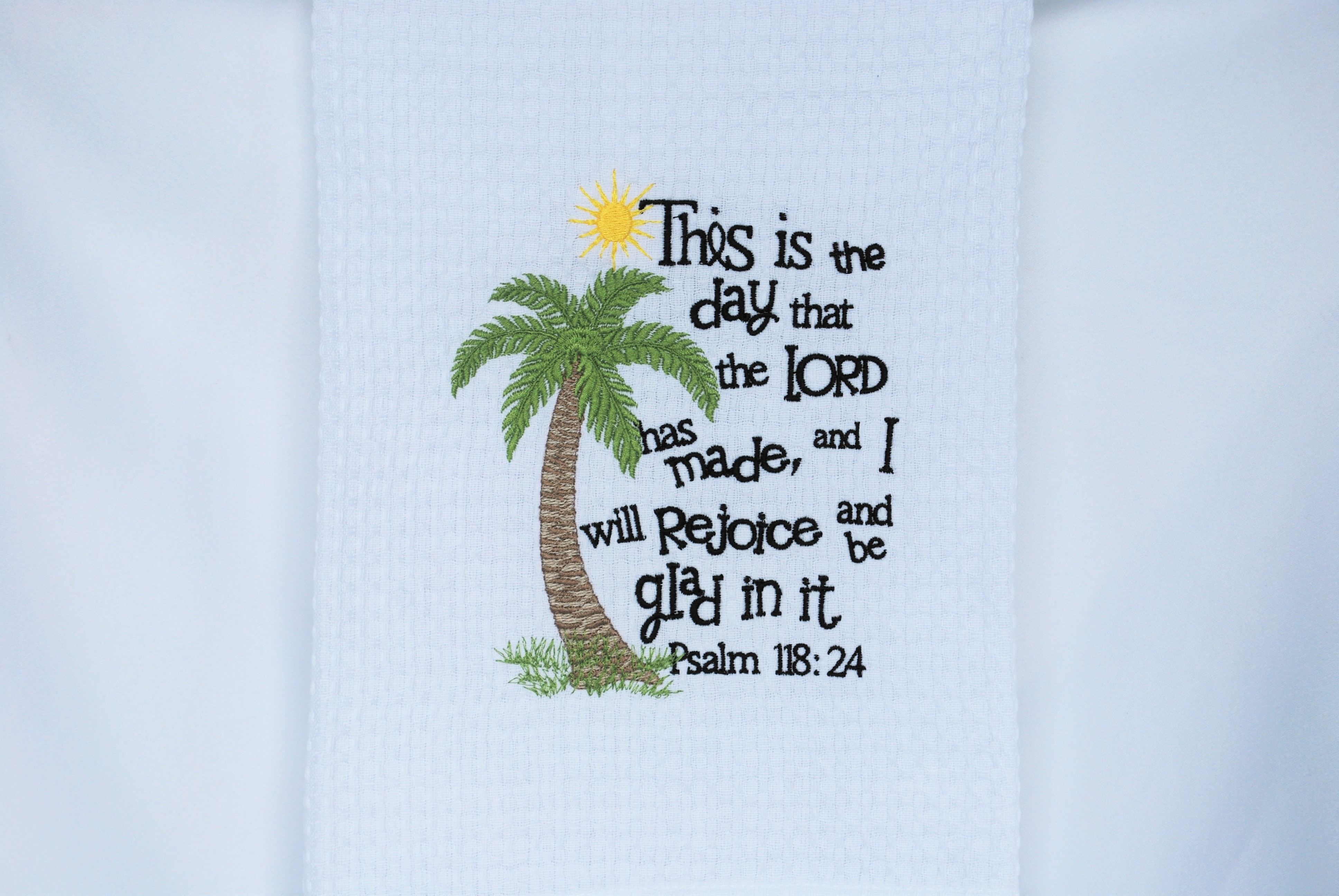 Kitchen Towel, This is the day, Palm Tree