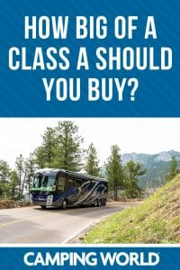 How big of a class a motorhome should you buy?