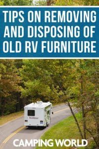 Tips on removing and disposing of old RV furniture
