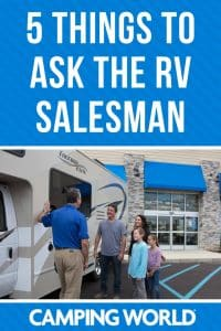 5 things to ask the RV salesman